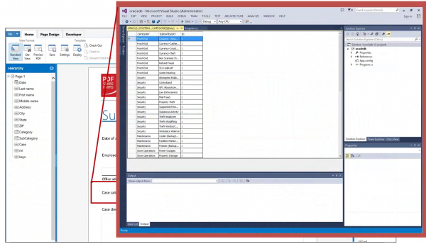 Cascading dropdowns with data from oracle db