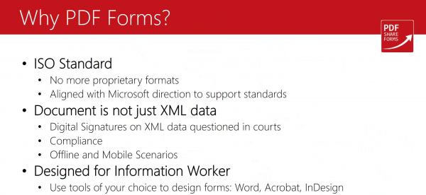 Why PDF forms?
