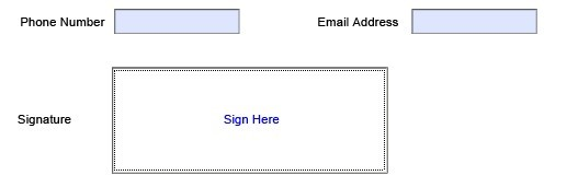 digital signature field runtime PDF Share Forms for SharePoint