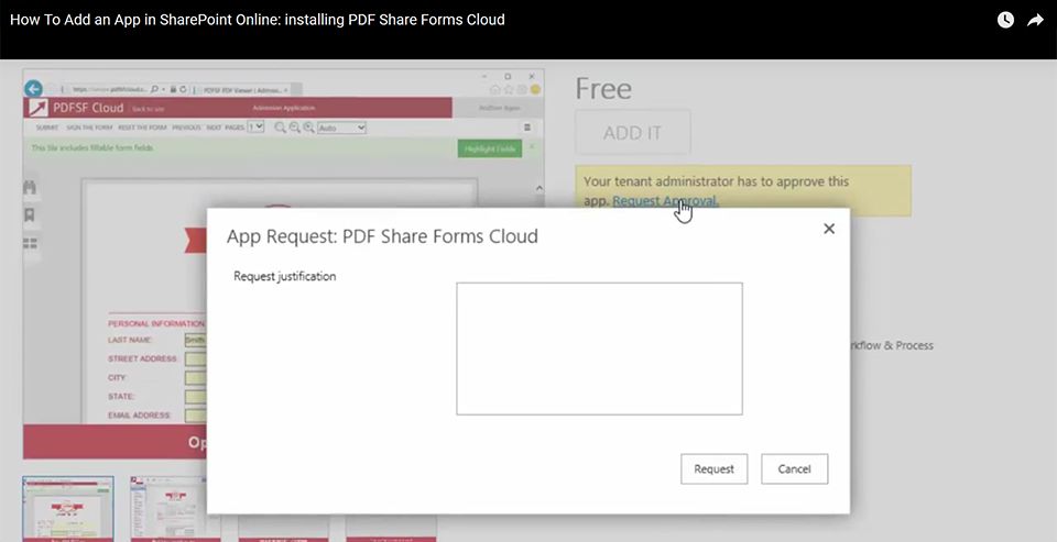 How to add an app - SharePoint App Add request