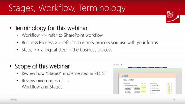SharePoint forms - magic of stages - Stages, workflow, terminology