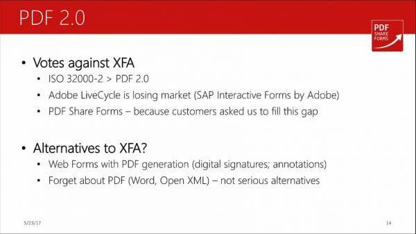 Acroforms vs XFA - PDF 2.0