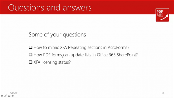 Acroforms vs XFA - questions and answers