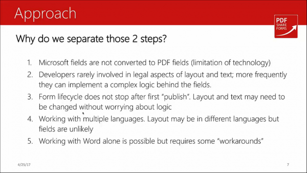 Forms for SharePoint - 2 step design approach