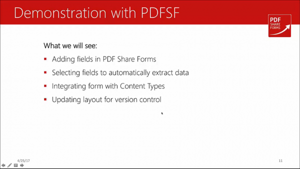 Forms for SharePoint - demonstration with PDF Share Forms