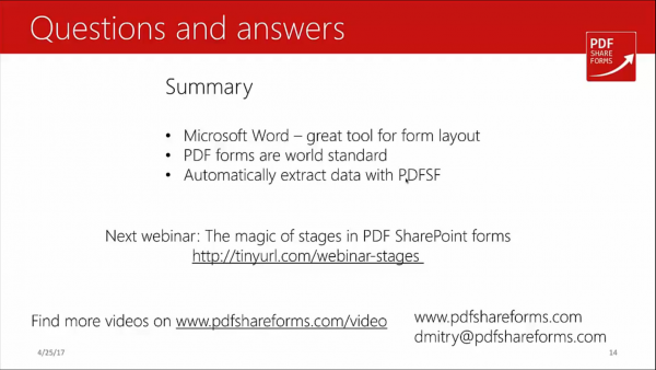 Forms for SharePoint - questions and answers summary