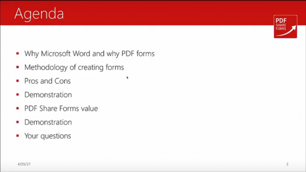 Forms for SharePoint - webinar agenda