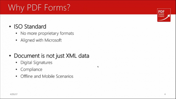 Forms for SharePoint - why pdf