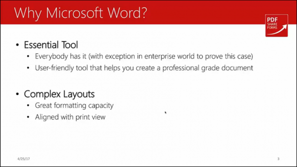Forms for SharePoint - why word
