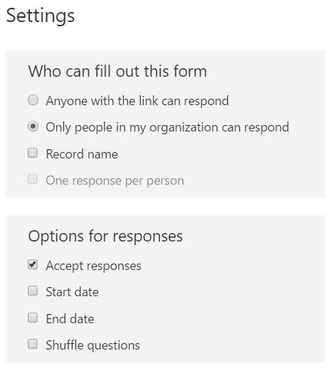 Microsoft forms - who can fill out this form